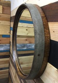 Buy a Custom Reclaimed Wine Barrel Top Mirror, made to ...