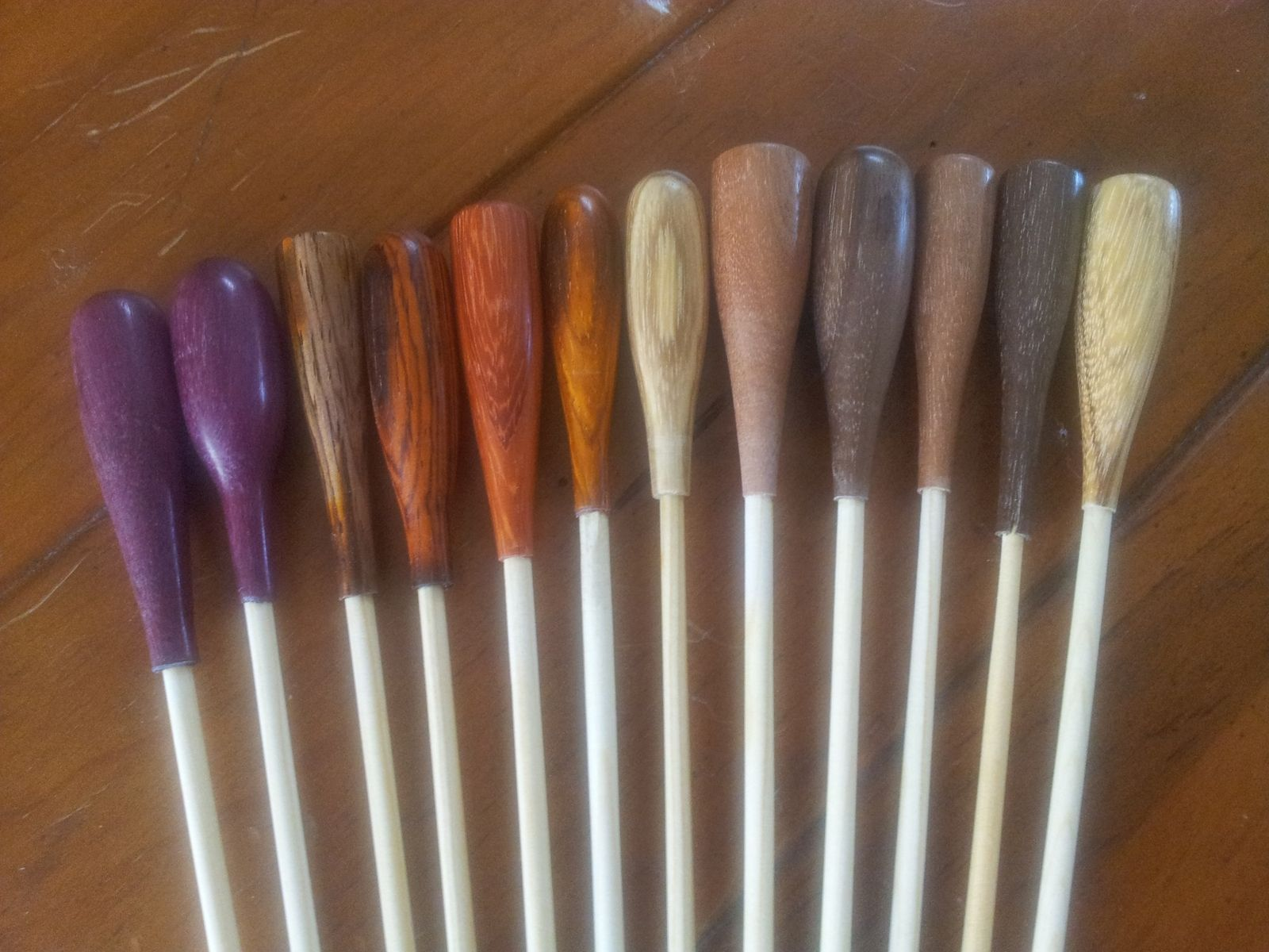 Hand Crafted Conductors Batons By Fine Wine Woodworks