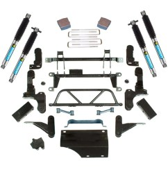 superlift 5 7 adjustable lift kit 93 95 k2500 k3500 8 lug 4wd w bilstein shocks [ 1500 x 1050 Pixel ]