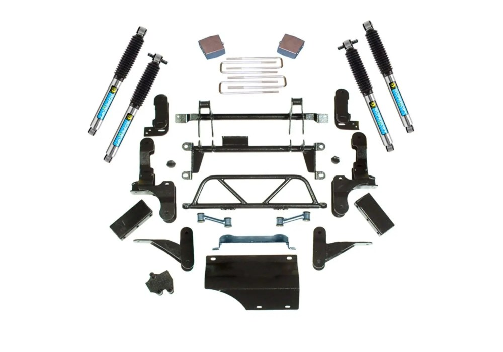 medium resolution of superlift 5 7 adjustable lift kit 93 95 k2500 k3500 8 lug 4wd w bilstein shocks
