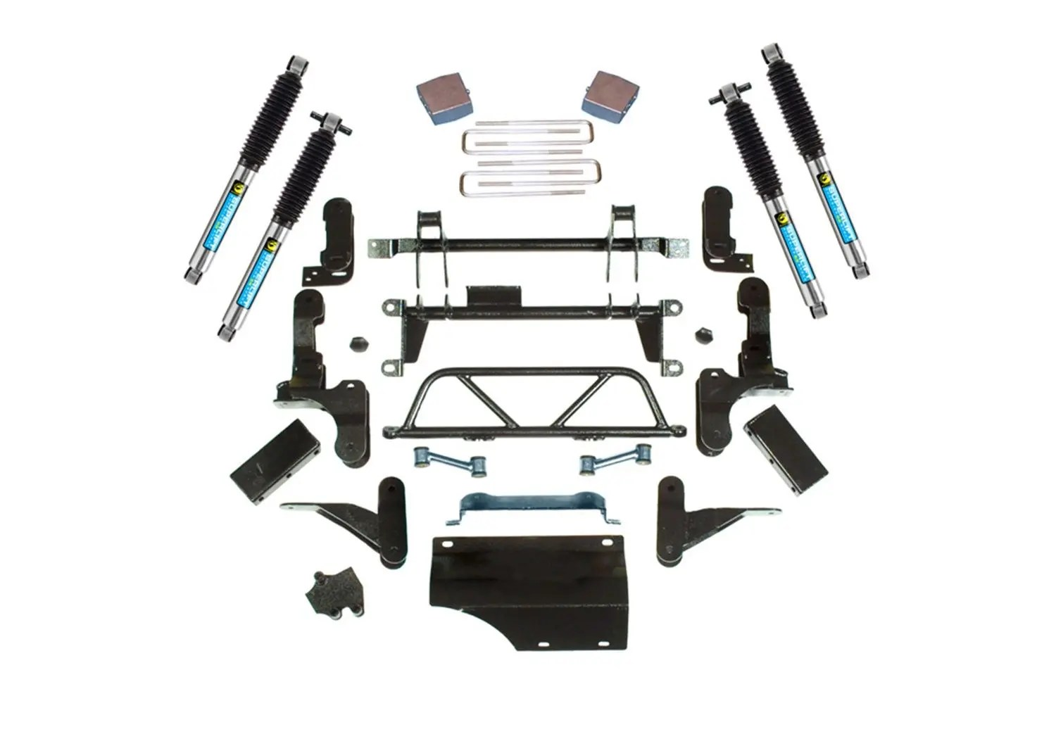 hight resolution of superlift 5 7 adjustable lift kit 93 95 k2500 k3500 8 lug 4wd w bilstein shocks