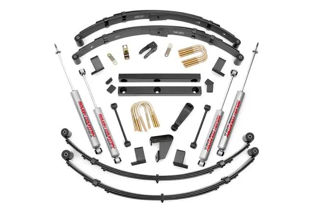 Rough Country 4in Jeep Suspension Lift Kit Manual Steering