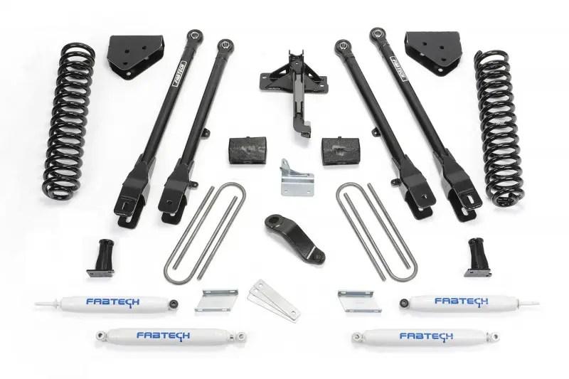 Fabtech 6 4 Link System W Performance Shocks 2008 16 Ford