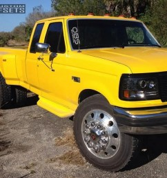 1 1995 f 350 ford leveling kit diesel wheels classic polished flush  [ 1000 x 856 Pixel ]