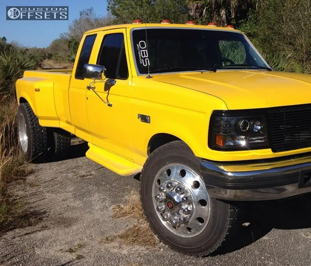 hight resolution of  1 1995 f 350 ford leveling kit diesel wheels classic polished flush