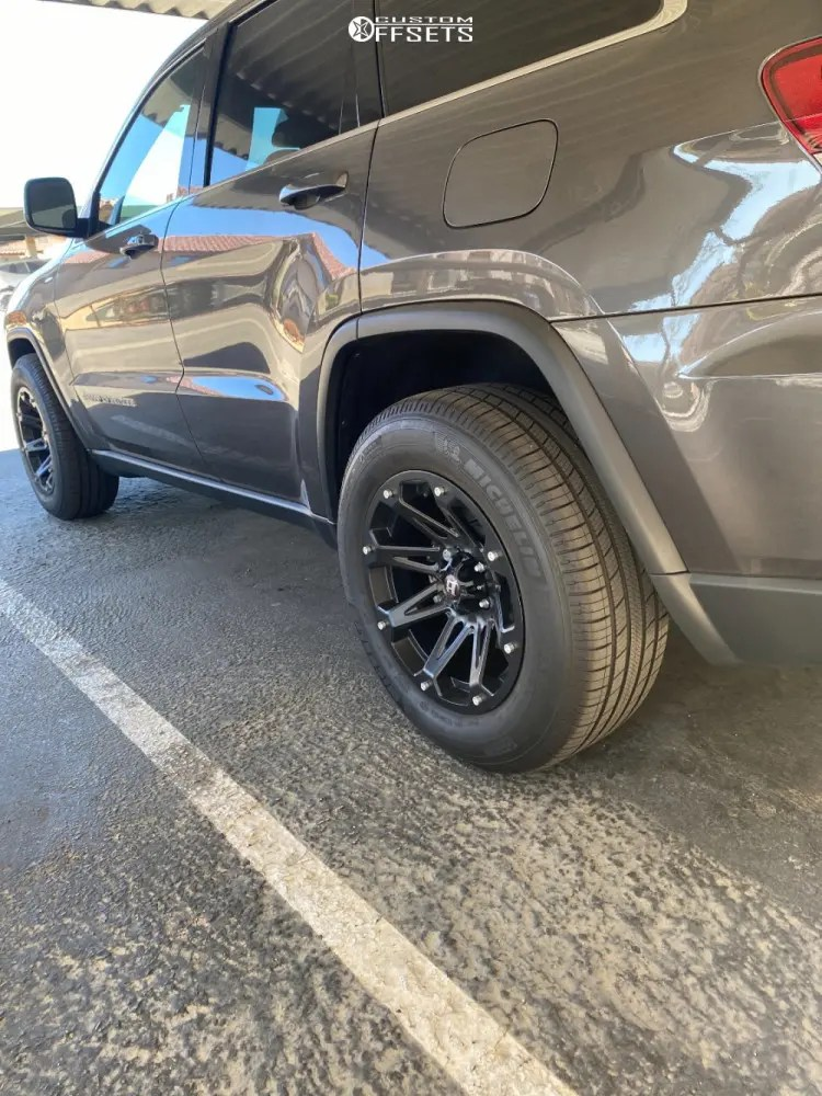 Jeep Grand Cherokee Leveling Kits : grand, cherokee, leveling, Grand, Cherokee, Wheel, Offset, Aggressive, Outside, Fender, Stock, 1494404, Stance