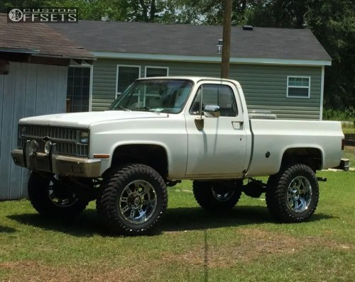 small resolution of 1 1982 k10 chevrolet suspension lift 6 xd xd809 chrome slightly aggressive