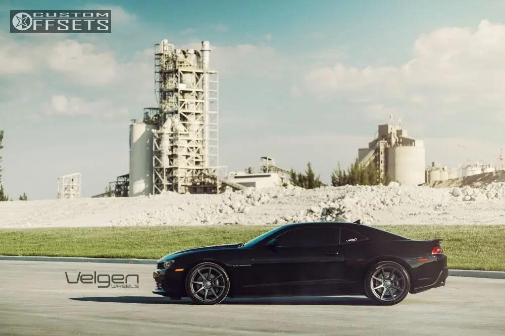 Wheel Offset 2014 Chevrolet Camaro Flush Dropped 1 3 Custom Rims