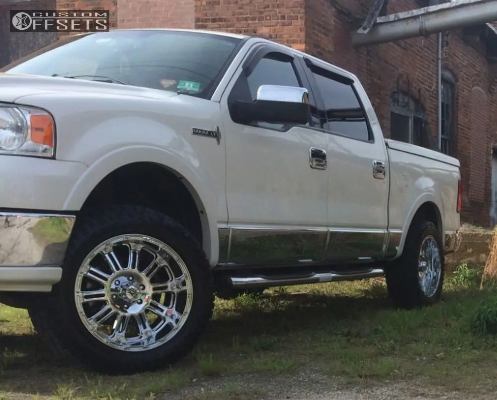 medium resolution of 9 2006 mark lt lincoln leveling kit xd hoss chrome slightly aggressive