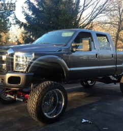 13 2002 f 250 super duty ford suspension lift 10 american force liberty ss polished hella [ 1000 x 795 Pixel ]