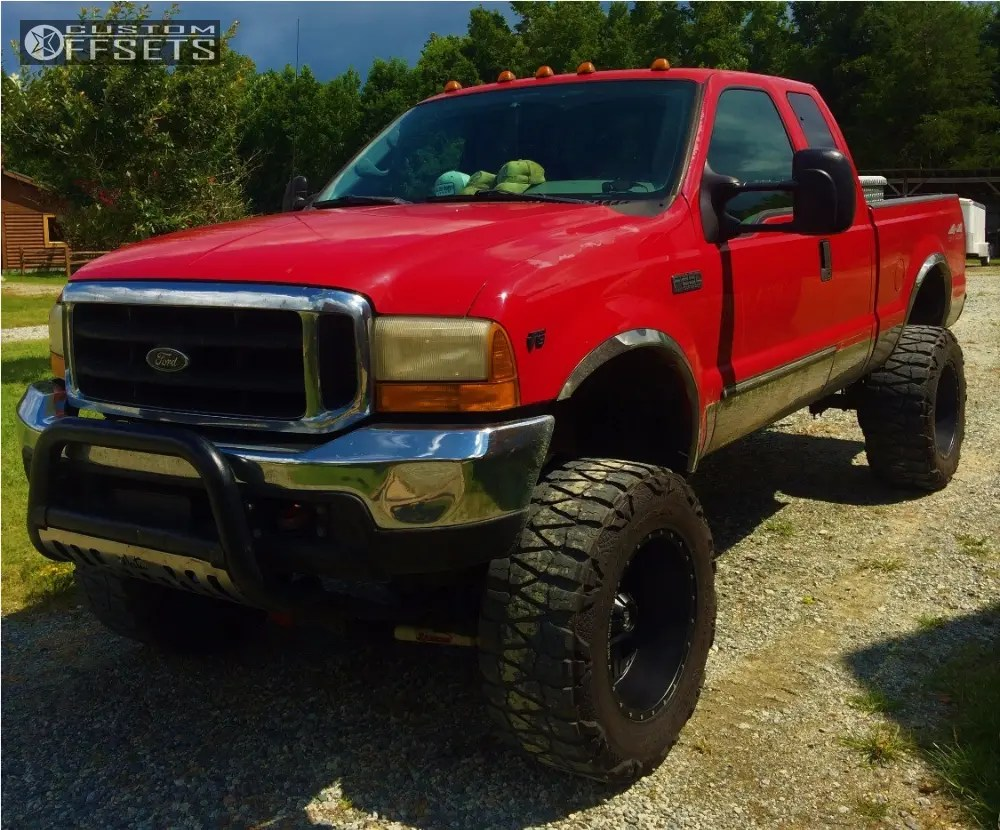 hight resolution of 8 1999 f 250 super duty ford rancho suspension lift 8in red dirt road dirt black