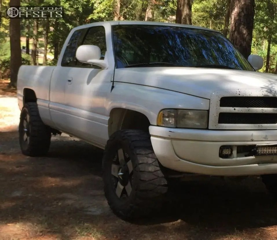 medium resolution of 1 1998 ram 1500 dodge suspension lift 3 xd rockstar chrome aggressive 1 outside fender