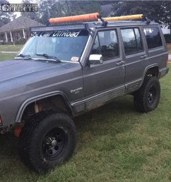 1 1989 cherokee jeep rustys off road suspension lift 45in pacer bullet hole black [ 965 x 1000 Pixel ]