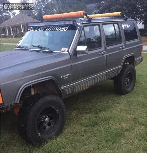 small resolution of 1 1989 cherokee jeep rustys off road suspension lift 45in pacer bullet hole black