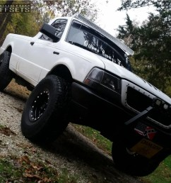 12 1998 ranger ford fab tech suspension lift 4in pro comp 152 black  [ 1000 x 928 Pixel ]