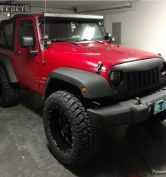 2 2011 wrangler jeep rough country suspension lift 25in ultra hunter red [ 1000 x 944 Pixel ]