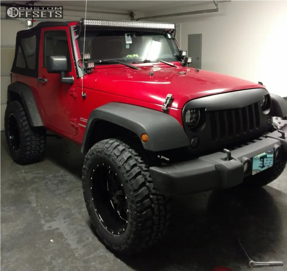 medium resolution of 2 2011 wrangler jeep rough country suspension lift 25in ultra hunter red