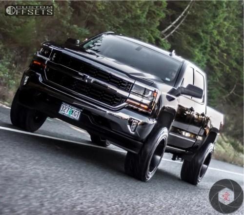 small resolution of 8 2018 silverado 1500 chevrolet fabtech suspension lift 4in hostile stryker black