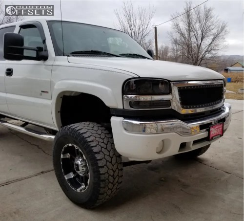 small resolution of 1 2004 sierra 2500 hd classic gmc fabtech suspension lift 6in fuel hostage d531 black