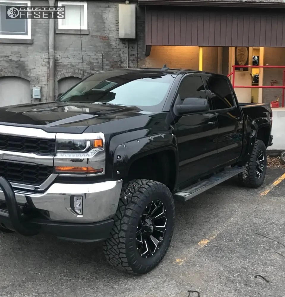 medium resolution of 1 2018 silverado 1500 chevrolet rough country suspension lift 7in fuel assault machined accents