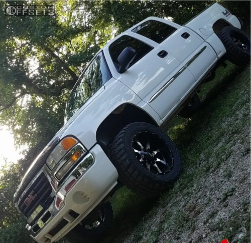 small resolution of 1 2006 sierra 1500 gmc rough country leveling kit moto metal mo970 black