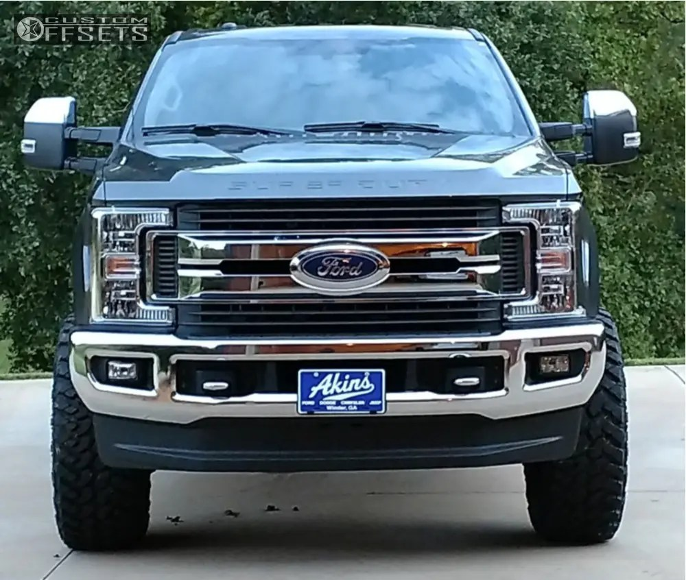 medium resolution of 2 2019 f 250 super duty ford readylift leveling kit fuel coupler machined black