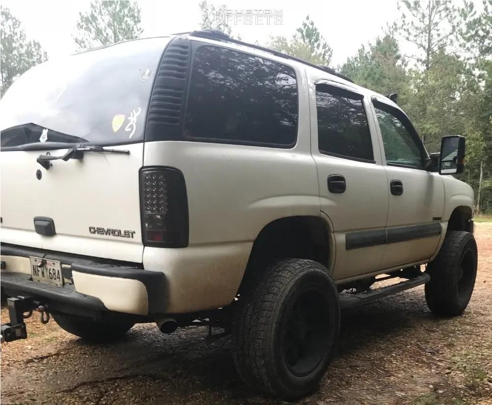hight resolution of 4 2003 tahoe chevrolet superlift suspension lift 6in mayhem warrior black