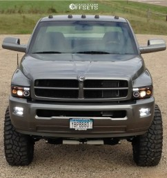 2 1998 ram 3500 dodge custom suspension lift 7in fuel triton d609 chrome [ 1000 x 947 Pixel ]