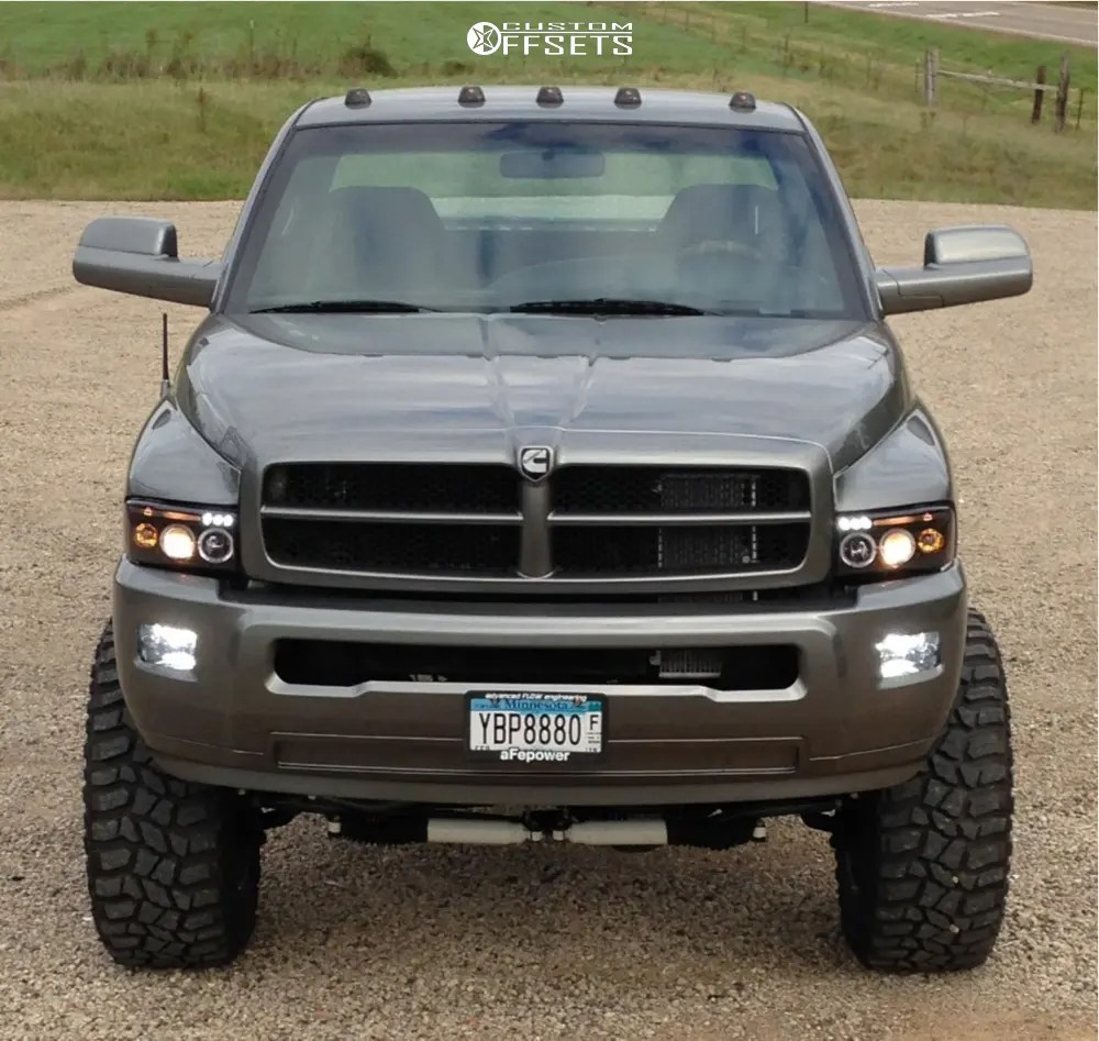 medium resolution of 2 1998 ram 3500 dodge custom suspension lift 7in fuel triton d609 chrome