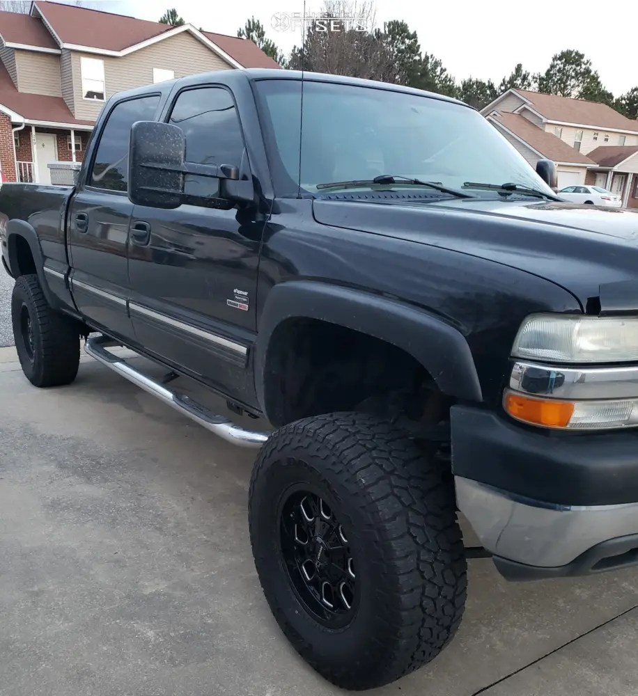 hight resolution of 1 2002 silverado 2500 hd chevrolet rough country suspension lift 6in mayhem cogent black