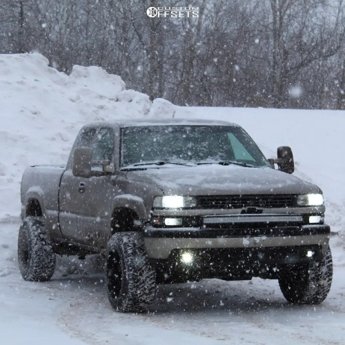 small resolution of 1 2000 silverado 1500 chevrolet rough country suspension lift 4in vision bomb machined black