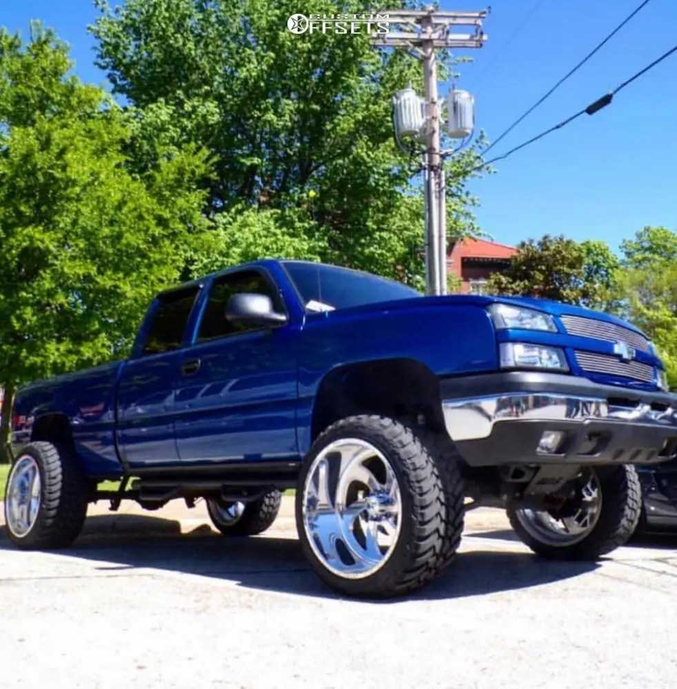 medium resolution of 1 2004 silverado 1500 chevrolet bds suspension lift 65in american force grip ss polished