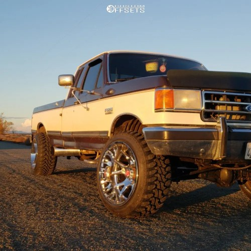 small resolution of 1 1990 f 250 ford custom suspension lift 3in hostile rage chrome