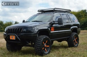 Wheel Offset 2004 Jeep Grand Cherokee Aggressive 1 Outside Fender Suspension Lift 6 Custom Rims