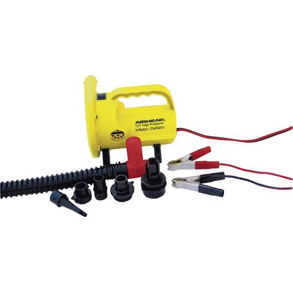 Airhead 12 Volt High Pressure Air Pump Towable Tube Mattress Inflator