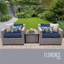tkc florence 3 piece patio wicker