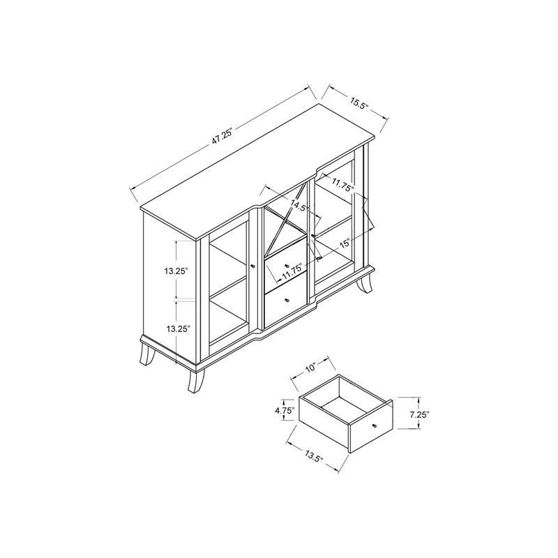 furniture of america anglex transitional wood wine rack