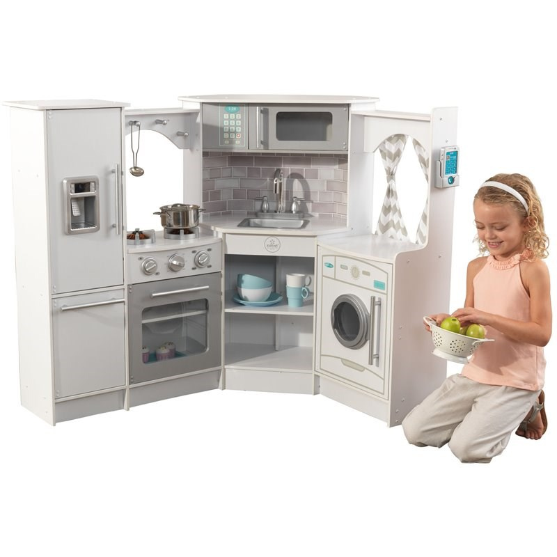 Kidkraft Ultimate Corner Play Kitchen Set White 53386 Novocom Top