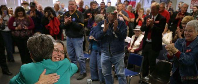 Republican Senate Candidate Jodi Ernst Campaigns Throughout Iowa