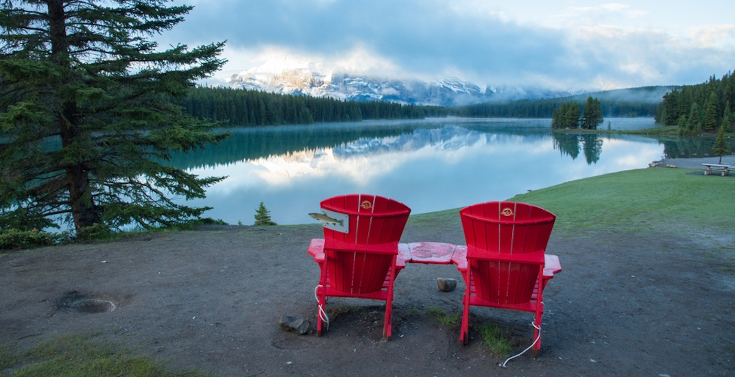 Everywhere in Canada you can find these iconic red chairs