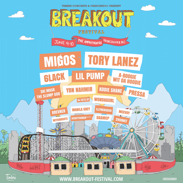 MIGOS and Tory Lanez to headline first Vancouver all hip