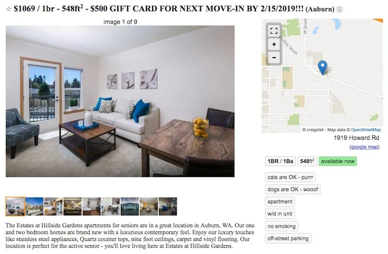 Craigslist Seattle Apartments