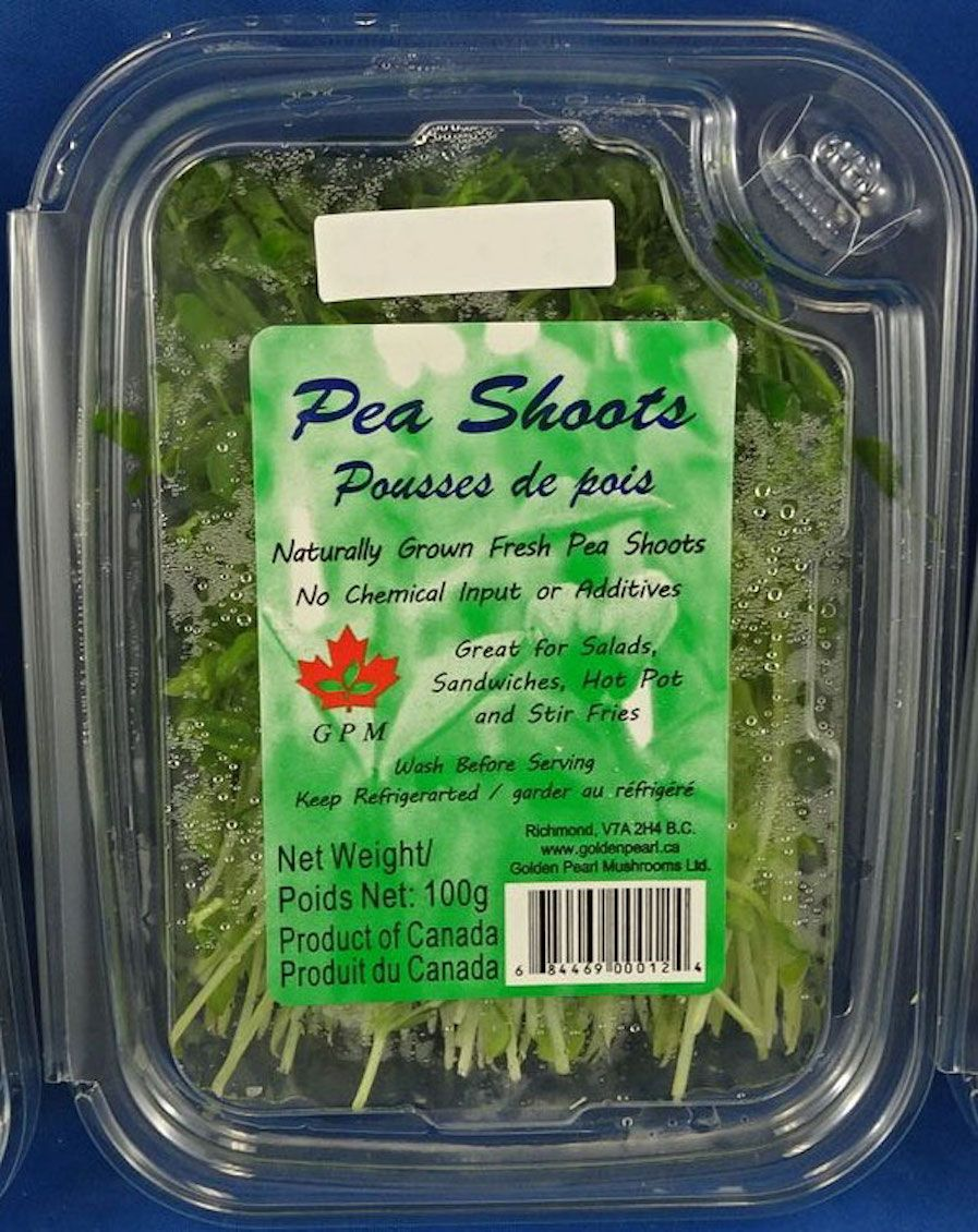 GPM brand pea shoots recalled in BC and Alberta due to