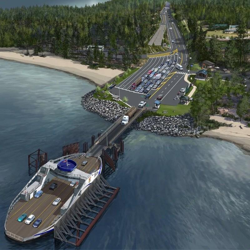Kootenay Lake ferry terminal