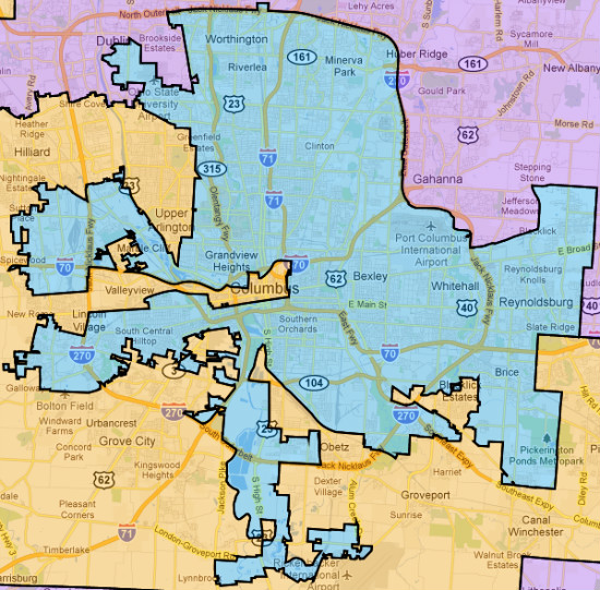 Geography Map Of Ohio.Gerrymandering Columbus Ohio Open Geography