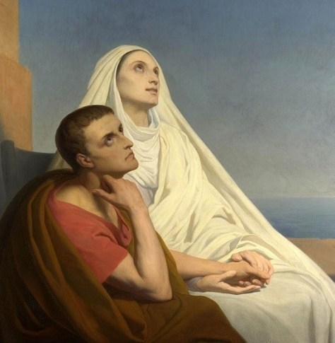 Saint Monica and Augustine, 1846, painted by Ary Scheffer.