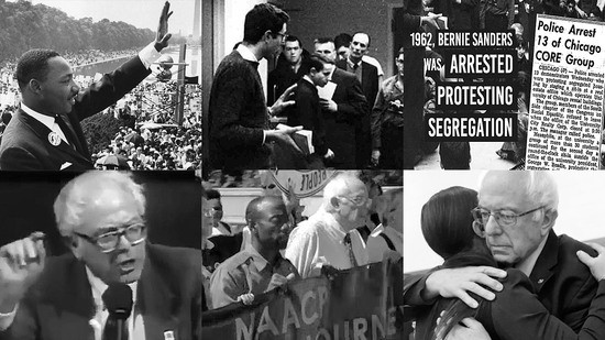 Bernie Sanders has been fighting for civil rights & racial justice for 54 years.