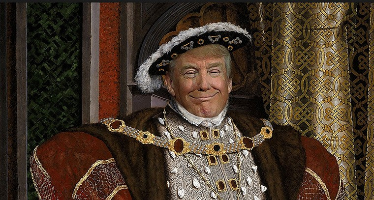 Image result for king trump cartoon