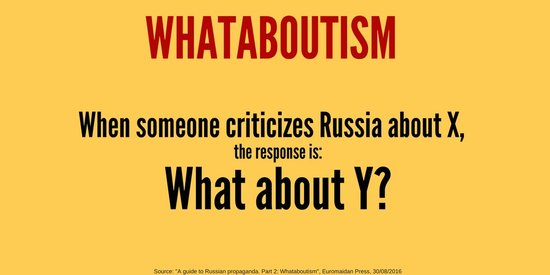 Whataboutism logical fallacy