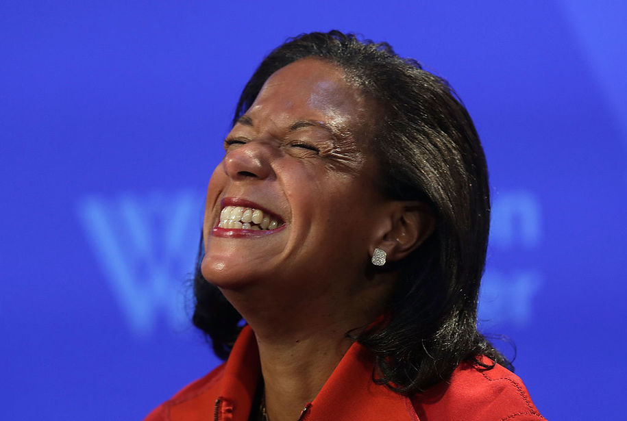 WASHINGTON, DC - OCTOBER 14: National Security Advisor Susan Rice participates in a discussion October 14, 2016 at the Woodrow Wilson Center in Washington, DC. Rice discussed the Obama administration's approach to Cuba. (Photo by Alex Wong/Getty Images)